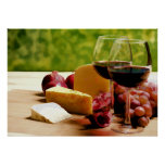 Countryside Wine, Cheese & Fruit Poster