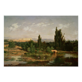 Countryside with a River, Manzanares Posters