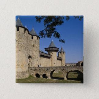 Counts Castle, Carcassonne, Aude, Languedoc, 15 Cm Square Badge