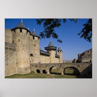 Counts Castle, Carcassonne, Aude, Languedoc, Poster
