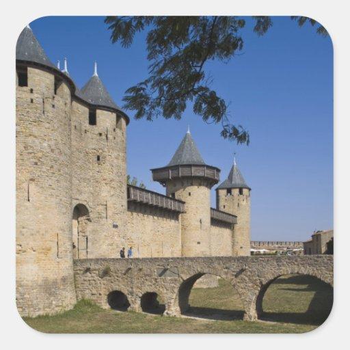 Counts Castle, Carcassonne, Aude, Languedoc, Stickers