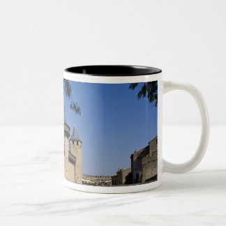 Counts Castle, Carcassonne, Aude, Languedoc, Two-Tone Coffee Mug