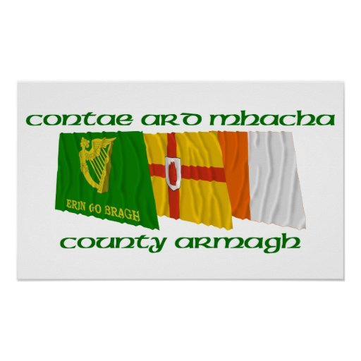 County Armagh Flags Print
