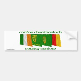 County Carlow Flags Bumper Sticker