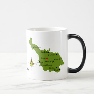 County Cavan Map Crest Mugs