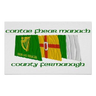County Fermanagh Flags Posters