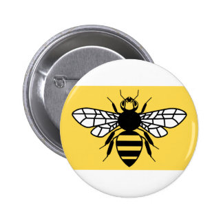 County Flag of Greater Manchester 6 Cm Round Badge