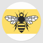 County Flag of Greater Manchester Round Sticker