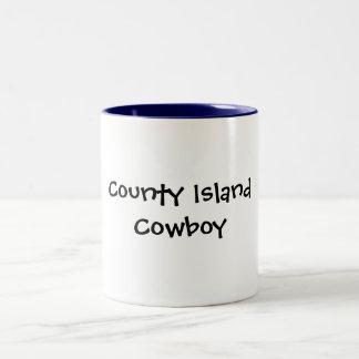 County Island Cowboy Two-Tone Coffee Mug