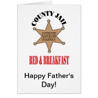 County Jail B&B Card