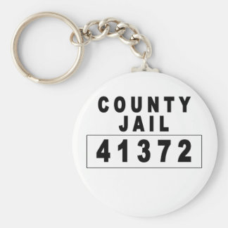 County Jail Halloween Custome Tshirts.png Keychain