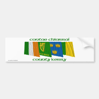 County Kerry Flags Bumper Sticker