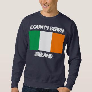 County Kerry, Ireland with Irish flag Sweatshirt