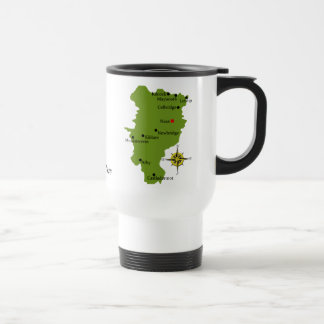 County Kildare Map Crest Mugs