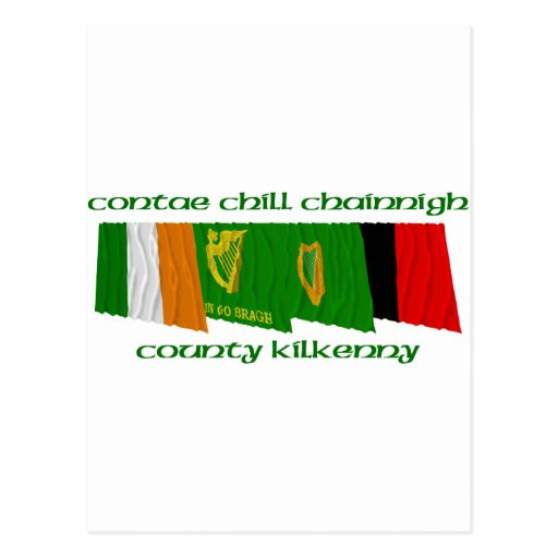 County Kilkenny Flags Post Cards