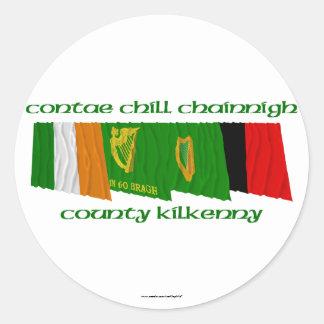 County Kilkenny Flags Round Sticker