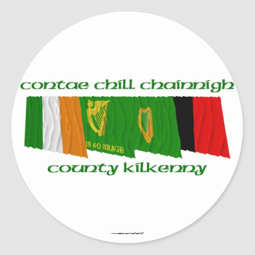 County Kilkenny Flags Stickers
