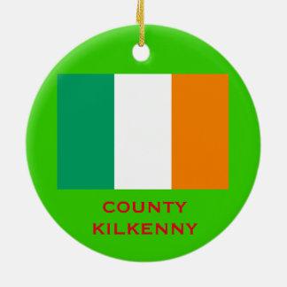 County Kilkenny Ireland  Contae Chill Chainnigh Round Ceramic Decoration