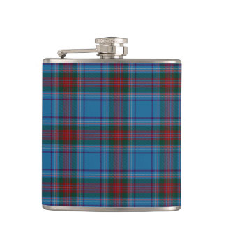 County Louth Irish Tartan Hip Flask