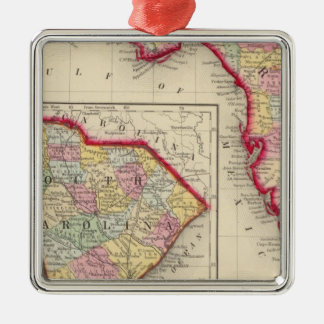 County Map Of Florida Christmas Ornament