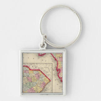 County Map Of Florida Key Ring