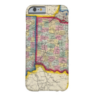 County Map Of Ohio, And Indiana Barely There iPhone 6 Case