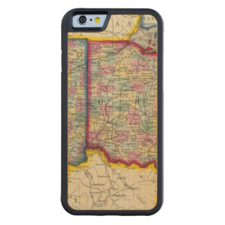 County Map Of Ohio, And Indiana Carved Maple iPhone 6 Bumper Case