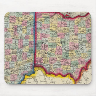 County Map Of Ohio, And Indiana Mouse Mat