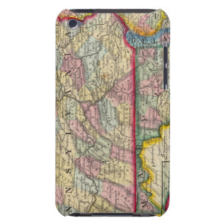 County Map Of Pennsylvania, New Jersey iPod Touch Case-Mate Case