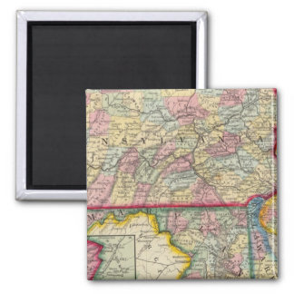 County Map Of Pennsylvania, New Jersey Magnet