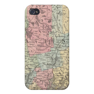 County Map Of The State Of Maine Case For The iPhone 4