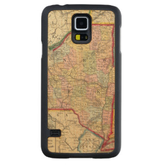 County Map Of The States Of New York Carved Maple Galaxy S5 Case