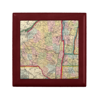 County Map Of The States Of New York Gift Box