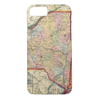 County Map Of The States Of New York iPhone 8/7 Case