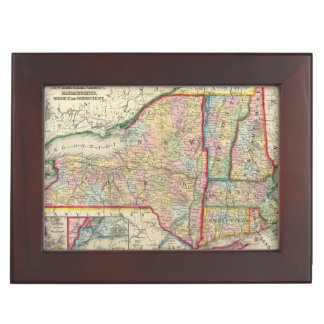 County Map Of The States Of New York Keepsake Box
