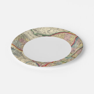 County Map Of The States Of New York Paper Plate