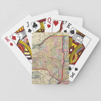 County Map Of The States Of New York Playing Cards