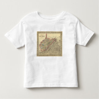 County map West Virginia Toddler T-Shirt