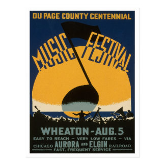 County Music Festival, 1939 Postcard