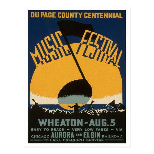 County Music Festival, 1939 Post Card