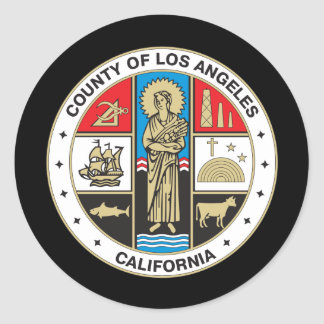 County of Los Angeles seal Round Sticker