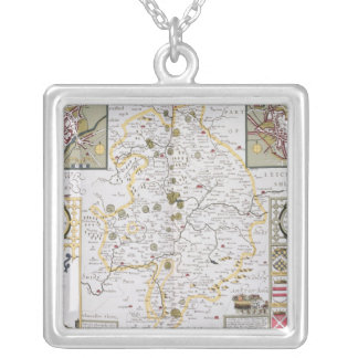 County of Warwick, Shire Town and City of Silver Plated Necklace