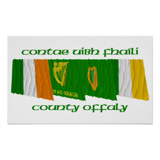 County Offaly Flags Print