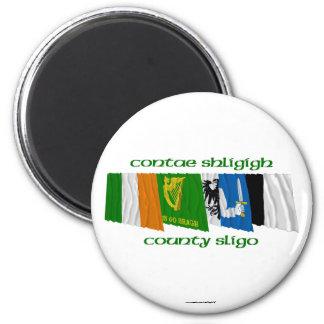County Sligo Flags 6 Cm Round Magnet