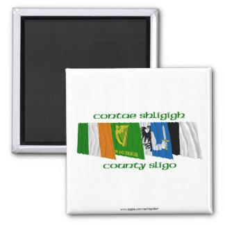 County Sligo Flags Square Magnet