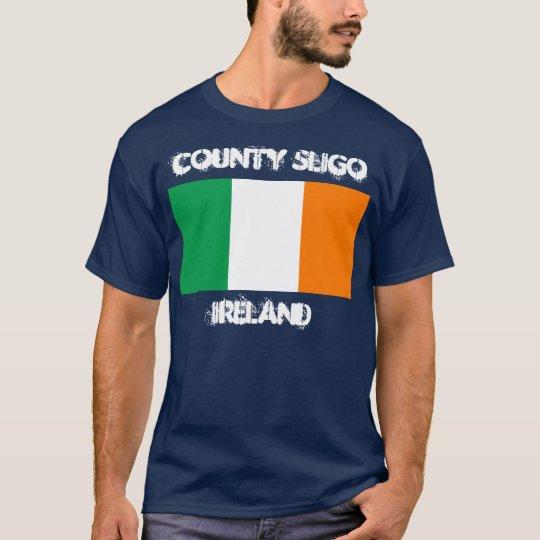 County Sligo, Ireland with Irish flag T-Shirt