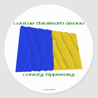 County Tipperary Colours Round Sticker