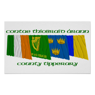 County Tipperary Flags Posters