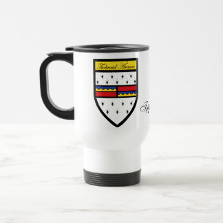 County Tipperary Map Crest Mugs