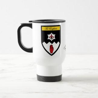County Tyrone Map Crest Mugs